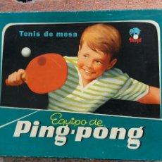 Giocattoli antichi e Giochi di collezione: EQUIPO DE PING-PONG FABRICADO POR MARFIL AÑOS 60. Lote 218829467