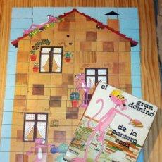 Juguetes antiguos y Juegos de colección: EL GRAN DOMINO DE LA PANTERA ROSA - DISTEIN - AÑO 1973. Lote 219416886