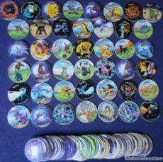 Juguetes antiguos y Juegos de colección: POKEMON TAZOS LEAGUE COLECCION CASI COMPLETA 43/50 MATUTANO 2002. Lote 219752178