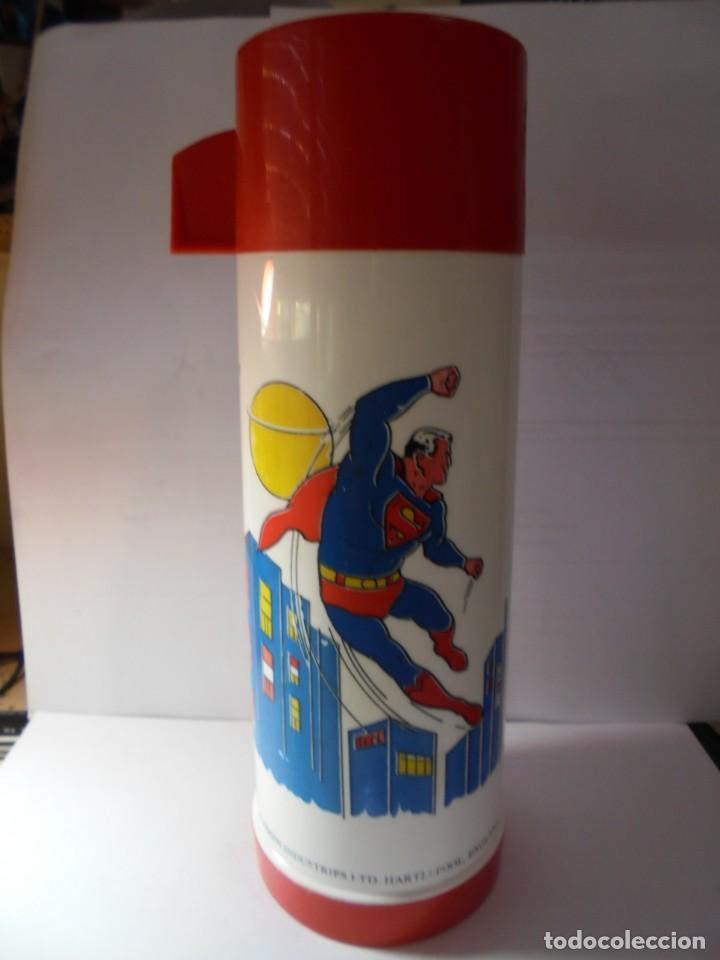 Juguetes antiguos y Juegos de colección: magnifico antiguo termo de superman del 1971 - Foto 2 - 255524275