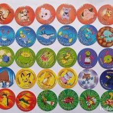 Jouets Anciens et Jeux de collection: 38 POKÉMON TAZOS 3 COMPLETA 2ª TIRADA, IDEAL PARA COMPLETAR COLECCIÓN Y DUPLICADOS PARA CAMBIOS. Lote 221523656