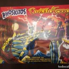 Brinquedos antigos e Jogos de coleção: CAJA PROMOCIONAL PRECINTADA DE PHOSKITOS CASTILLO DEL TERROR. Lote 221728481