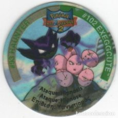 Jouets Anciens et Jeux de collection: COLECCIÓN TAZOS MATUTANO POKÉMON TAZOS LEAGUE 2 SIN PEGATINA TAZO CAPS #93 HAUNTER #102 EXEGGCUTE. Lote 223559501