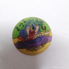 Giocattoli antichi e Giochi di collezione: TAZO MAGIC AÑO 1994 DIBUJOS WARNER BROS MATUTANO N° 111 DIZZY DEVIL MUSICA ROCK SOY ROCKERO. Lote 223763537