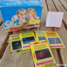 Jouets Anciens et Jeux de collection: CAJA , VISOR Y 5 FILMINAS DE BIMBOVISION BIMBO. Lote 224970965