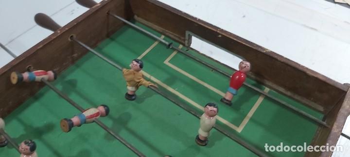 Juguetes antiguos y Juegos de colección: ANTIGUO FUTBOLIN AÑOS 50 - Foto 5 - 226805920