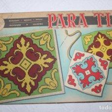 """Juguetes antiguos y Juegos de colección: REVISTA BORDADOS """"PARA TI"""" 1971. Lote 228753695"""
