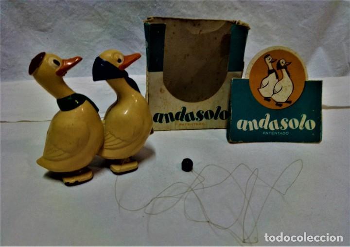 JUGUETE ANDASOLO DE GAMA.PATOS.MODELO 180.VER DESCRIPCIÓN Y FOTOGRAFIAS.AÑOS 50 (Juguetes - Varios)