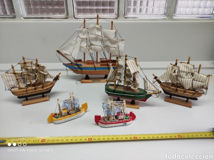 Juguetes antiguos y Juegos de colección: Barcos madera decoración - Foto 2 - 231971490