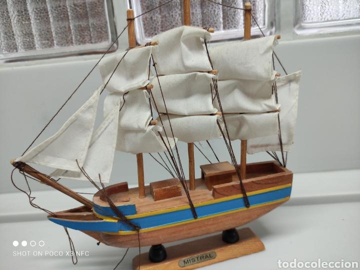 Juguetes antiguos y Juegos de colección: Barcos madera decoración - Foto 3 - 231971490