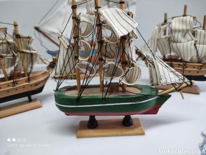 Juguetes antiguos y Juegos de colección: Barcos madera decoración - Foto 5 - 231971490