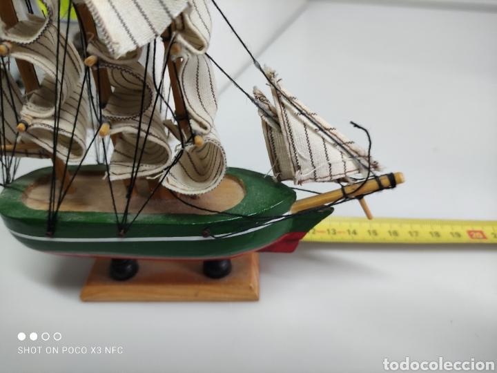 Juguetes antiguos y Juegos de colección: Barcos madera decoración - Foto 6 - 231971490