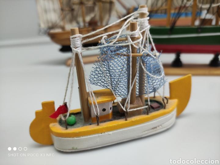 Juguetes antiguos y Juegos de colección: Barcos madera decoración - Foto 7 - 231971490