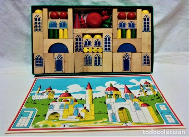 Juguetes antiguos y Juegos de colección: JUEGO ARQUITECTURA ORIENTAL.COMPLETO.PIEZAS DE MADERA.MEDIADOS S.XX - Foto 4 - 232859625