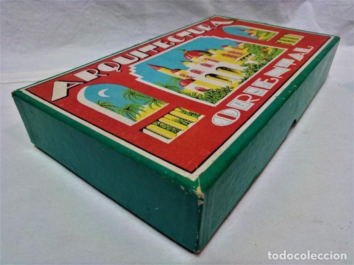 Juguetes antiguos y Juegos de colección: JUEGO ARQUITECTURA ORIENTAL.COMPLETO.PIEZAS DE MADERA.MEDIADOS S.XX - Foto 10 - 232859625