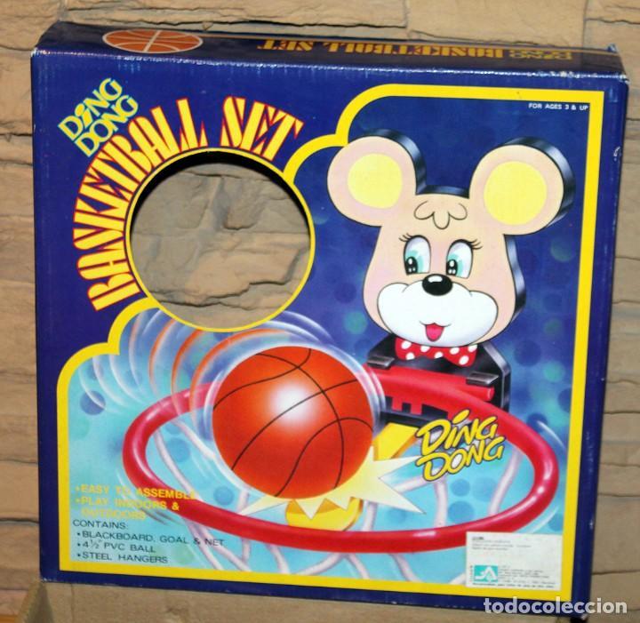 Juguetes antiguos y Juegos de colección: BASKETBALL SET - DING DONG - TAIWAN - NUEVO A ESTRENAR - EN SU CAJA ORIGINAL - CANASTA Y PELOTA - Foto 2 - 234613700
