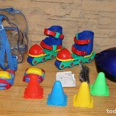 Juguetes antiguos y Juegos de colección: INLINE COMBO SET - MOCHILA CON PATINES, CASCO, CODERAS, RODILLERAS Y CONOS - NUEVO A ESTRENAR. Lote 234618160