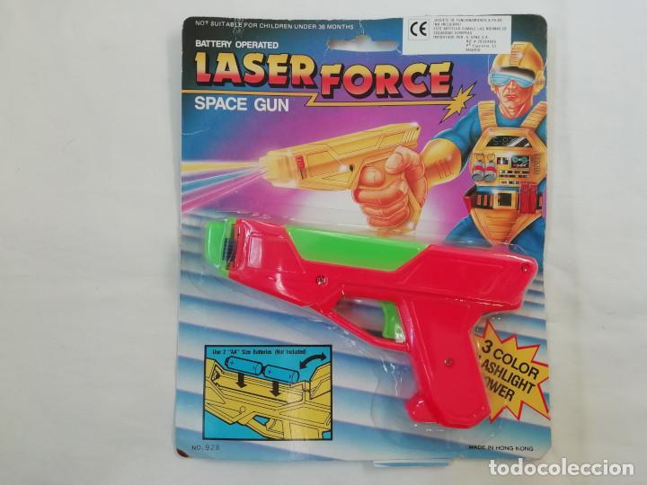 ANTIGUA PISTOLA LASER FORCE SPACE GUN - AÑOS 80 - NUEVA (Juguetes - Varios)