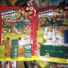 Juguetes antiguos y Juegos de colección: LOTE 2 BLISTER SODADITOS MILITARES BOOTLEG RAMBO KIOSKO AÑOS 80. Lote 235511690