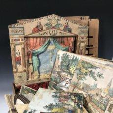 Juguetes antiguos y Juegos de colección: TEATRO DE MADERA Y PAPEL DE 1900. Lote 236699550