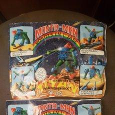 Juguetes antiguos y Juegos de colección: LOTE DE 2 SOBRES MONTA MAN N°34. Lote 237010705