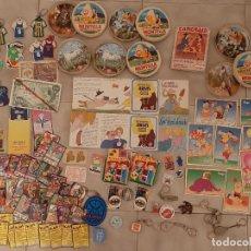 Juguetes antiguos y Juegos de colección: LOTE JUEGOS JUGUETE LLAVERO CARTAS PUZZLE PREMIUM BOLLYCAO DANONE ARIAS CRECS BIMBO YOPLAIT TANG. Lote 237391150