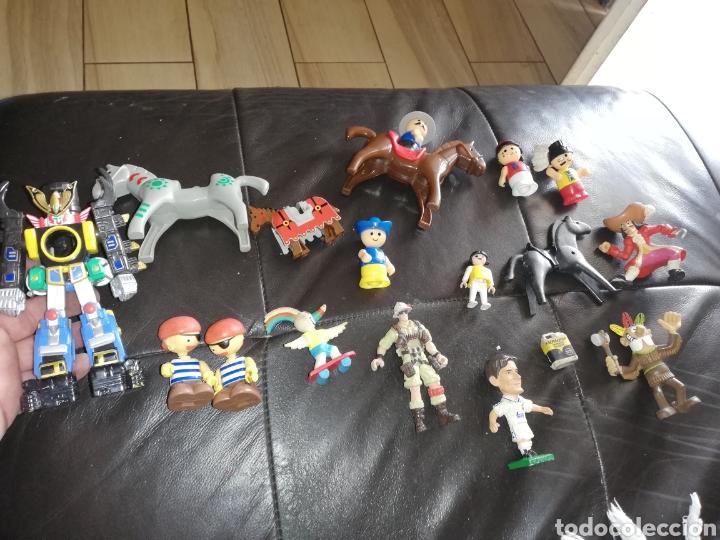 Juguetes antiguos y Juegos de colección: Lote de juguetes figuras varias marcas.. Piratas pvc Gozan.. Curro de goma Expo...leer descripción - Foto 2 - 238791615