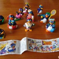 Juguetes antiguos y Juegos de colección: PINGUI PLAYA KINDER SORPRESA COLECCIÓN COMPLETA AÑOS 90. Lote 243176555