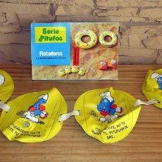 Juguetes antiguos y Juegos de colección: ANTIGUO FLOTADOR DE LOS PITUFOS - GRE - AÑOS 80 - NUEVO A ESTRENAR - EN SU CAJA ORIGINAL. Lote 243879255