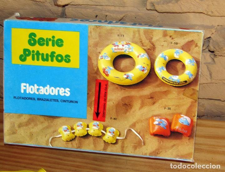 Juguetes antiguos y Juegos de colección: ANTIGUO FLOTADOR DE LOS PITUFOS - GRE - AÑOS 80 - NUEVO A ESTRENAR - EN SU CAJA ORIGINAL - Foto 2 - 243879255