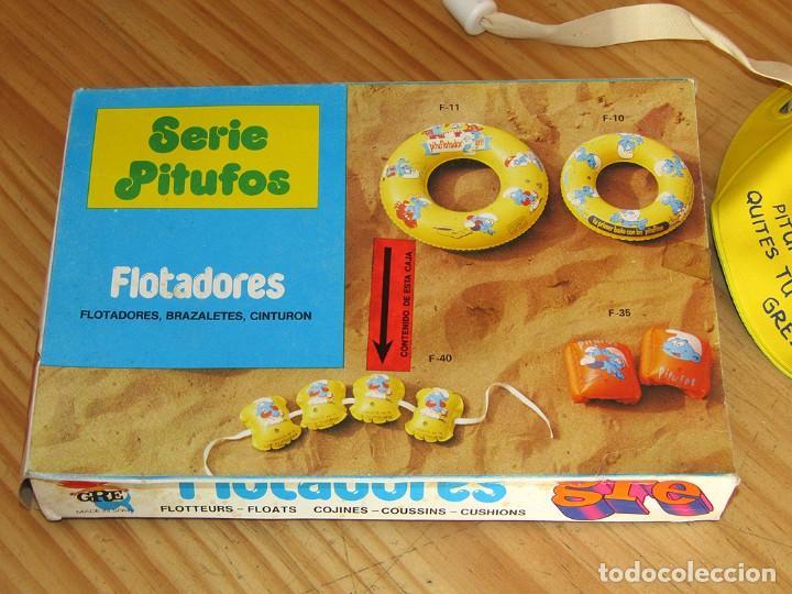 Juguetes antiguos y Juegos de colección: ANTIGUO FLOTADOR DE LOS PITUFOS - GRE - AÑOS 80 - NUEVO A ESTRENAR - EN SU CAJA ORIGINAL - Foto 5 - 243879255