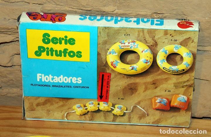 Juguetes antiguos y Juegos de colección: ANTIGUO FLOTADOR DE LOS PITUFOS - GRE - AÑOS 80 - NUEVO A ESTRENAR - EN SU CAJA ORIGINAL - Foto 2 - 243966720