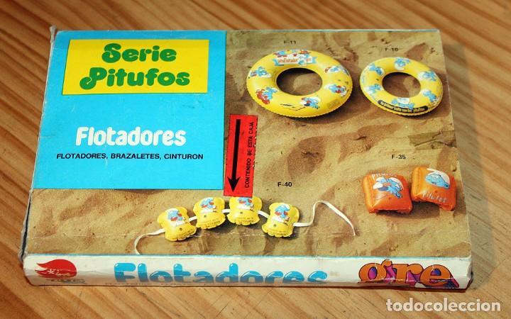 Juguetes antiguos y Juegos de colección: ANTIGUO FLOTADOR DE LOS PITUFOS - GRE - AÑOS 80 - NUEVO A ESTRENAR - EN SU CAJA ORIGINAL - Foto 5 - 243966720