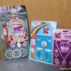 Jouets Anciens et Jeux de collection: 3 BLISTER CARTÓN PRETTY GIRL ACCESORIOS JUGUETE HONG KONG. Lote 245909925