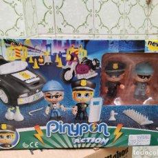 Juguetes antiguos y Juegos de colección: OCASION COLECCIONISTAS ! ANTIGUO JUEGO COMPLETO SIN USO NUEVO PINYPON ACTION PIN Y PON POLICIAS. Lote 251044885