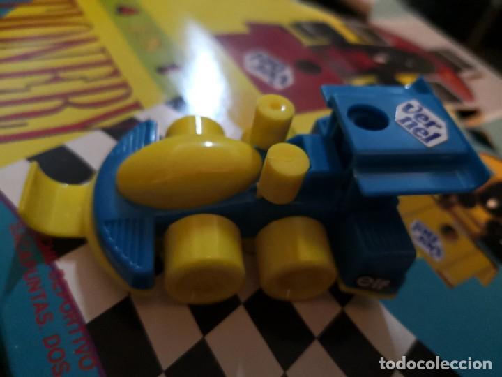 Juguetes antiguos y Juegos de colección: Raro coche set 4 en 1 deportivo set regla, afilador y dos clips. Por Alberto busto. - Foto 2 - 251278870
