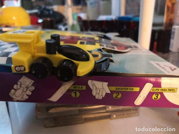 Juguetes antiguos y Juegos de colección: Raro coche set 4 en 1 deportivo set regla, afilador y dos clips. Por Alberto busto. - Foto 2 - 251278965