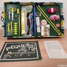 Juguetes antiguos y Juegos de colección: ANTIGUA CAJA COSTURERO MODISTA DE JUGUETE VINTAGE CON SIGNOS DE USO VER FOTOGRAFÍAS. Lote 252339825