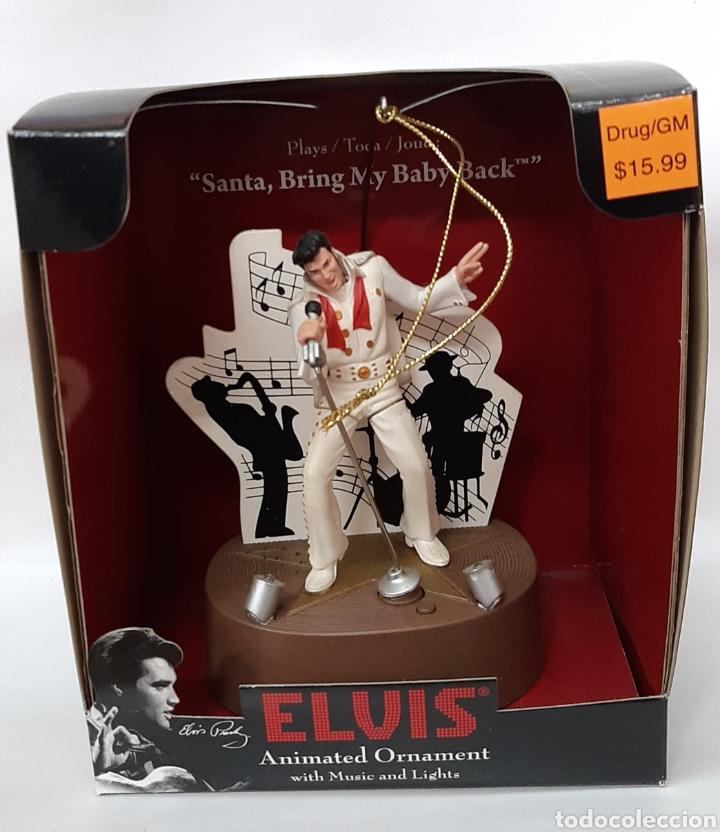 ELVIS PRESLEY WIHT MUSICAL AND LIGHT BY SANTA'S BEST (Juguetes - Varios)