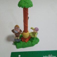 Brinquedos antigos e Jogos de coleção: FIGURA HAPPY MEAL ENANITOS BLANCANIEVES MCDONALDS MC DONALDS 90'S SNOW WHITE DIORAMA ESCENA MUÑECOS. Lote 253638045