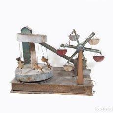 Juguetes antiguos y Juegos de colección: ANTIGUO JUGUETE DE MADERA CON UNA NORIA Y EL TIO VIVO. Lote 258238145