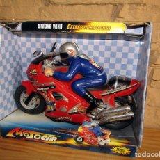 Juguetes antiguos y Juegos de colección: STRONG WIND MOTOCAR - MOTO CON LUZ Y SONIDO - NUEVA Y EN SU CAJA ORIGINAL. Lote 261651400