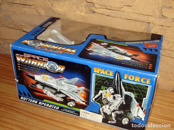 Juguetes antiguos y Juegos de colección: SPACE FORCE - AVION CAZA - CON LUZ Y SONIDO - NUEVO Y EN SU CAJA ORIGINAL - Foto 2 - 261651545