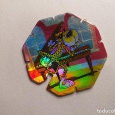 Juguetes antiguos y Juegos de colección: TAZO MATUTANO - ROCK & CHESTER - TAZO FLASH - Nº 19. Lote 261788170