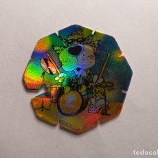 Juguetes antiguos y Juegos de colección: TAZO MATUTANO - ROCK & CHESTER - TAZO FLASH - Nº 5. Lote 261788355