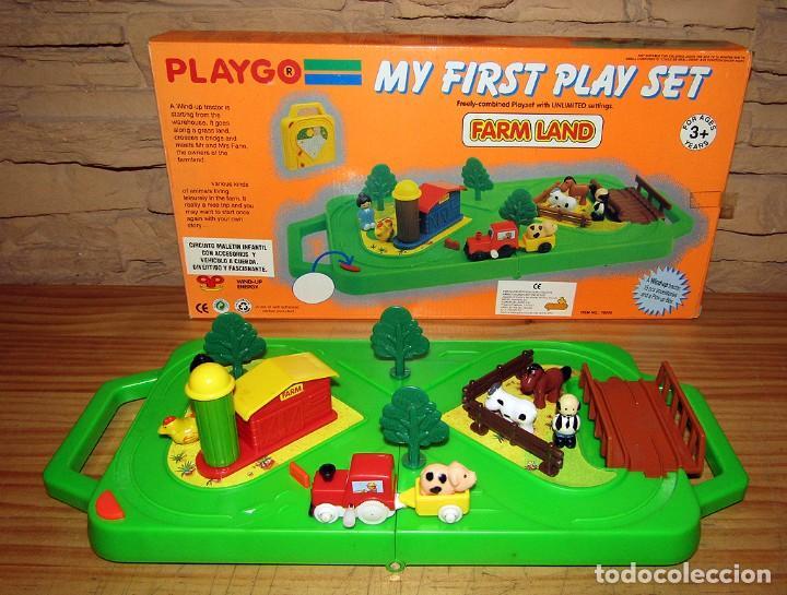 PLAYGO - MY FIRST PLAY SET - GRANJA CON TREN Y ANIMALES - NUEVO A ESTRENAR Y EN SU CAJA ORIGINAL (Juguetes - Varios)
