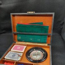 Jouets Anciens et Jeux de collection: ANTIGUO ESTUCHE CASINO PORTÁTIL. Lote 262146285