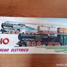 Juguetes antiguos y Juegos de colección: TREN ELECTRICO H0 EN CAJA - INGAP - MADE IN ITALY - A BATERÍA - FUNCIONA CORRECTAMENTE. AÑOS 70.. Lote 267186294