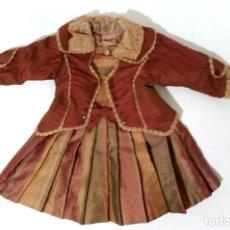 Jouets Anciens et Jeux de collection: VESTIDO PARA MUÑECA DE PORCELANA DE 60 CM. Lote 267683084