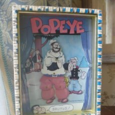 Juguetes antiguos y Juegos de colección: POPEYE MARINO SOY 1980 BRUTUS VINTAGE CAJA MUSICAL SHOW KING FEATURES BLUTO MUSIC BOX. Lote 270245653